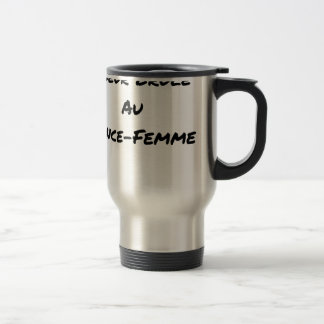 HEART FLARING WITH the LANCE-FEMME - Word games Travel Mug