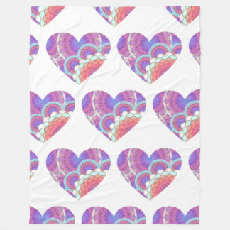 Heart Fleece Blanket
