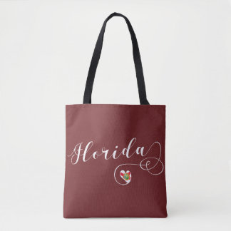 Heart Florida Grocery Bag, Floridian Tote Bag