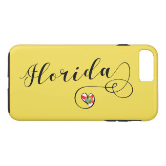 Heart Florida Mobile Phone Case, Floridian iPhone 8 Plus/7 Plus Case