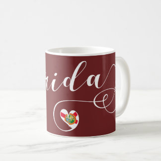 Heart Florida Mug, Floridian, Miami Coffee Mug