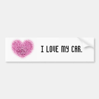 Heart Flower Designs. Bumper Sticker