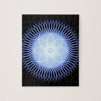 Heart Flower Mandala Jigsaw Puzzle