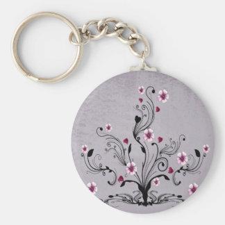 heart flower tree design art key chains