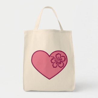 Heart Flower Valentine's Day Tote Bag