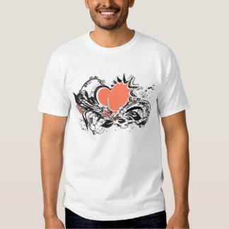 heart&flowers t shirt