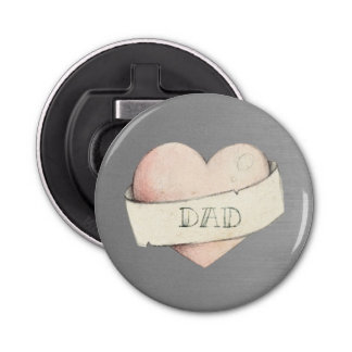 Heart for Dad Bottle Opener