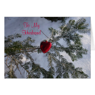 Heart for Husband's Valentine Greeting Card