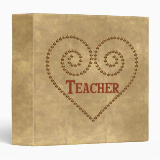Heart For Teacher Vinyl Binders