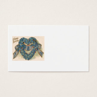 Heart Forget Me Not Ribbon Floral Business Card