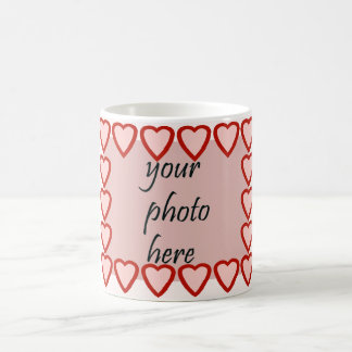 Heart frame for your picture coffee mug