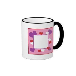 Heart Frame Ringer Mug