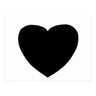 Heart Freeform 4 Black jGibney The MUSEUM Zazzle Postcard