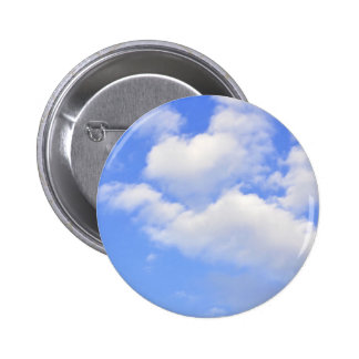 Heart from clouds 2 inch round button