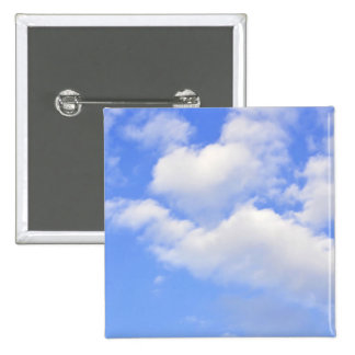 Heart from clouds 2 inch square button