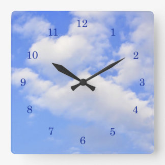 Heart from clouds - Wall Clock