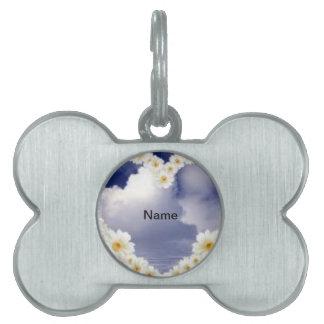 Heart Full Of Daisies Pet Name Tag