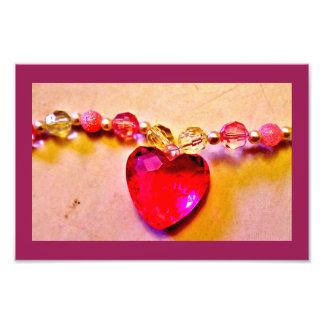 Heart Gem Necklace Photo Print