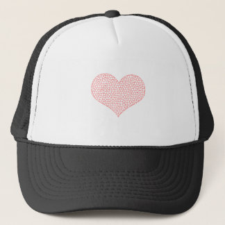 Heart - geometric  pattern - pink and white. trucker hat