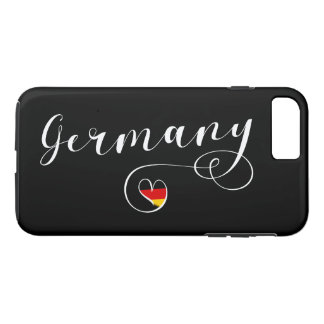 Heart Germany Cell Phone Case, German Flag Case-Mate iPhone Case