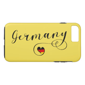 Heart Germany Cell Phone Case, German iPhone 8 Plus/7 Plus Case