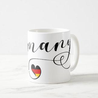 Heart Germany Mug, German Coffee Mug
