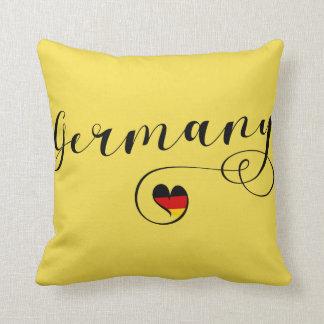 Heart Germany Pillow, German Throw Pillow