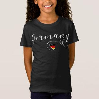 Heart Germany Tee Shirt, German Flag