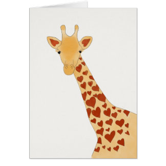 Heart Giraffe (Glossy) Greeting Card
