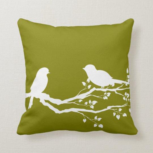 Heart Gold Beautiful Tree Throw Pillow