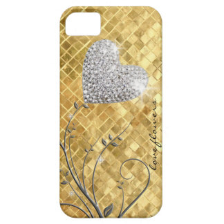 Heart golden love iPhone 5 case