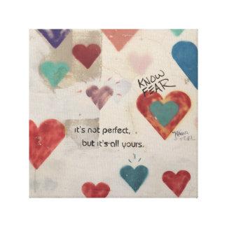Heart Graffiti - Israel Canvas Print
