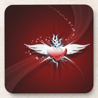 Heart Has Wings Coaster