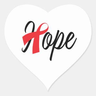 Heart Health Red Ribbon Awareness Heart Sticker