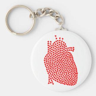 Heart Hearts Keychain