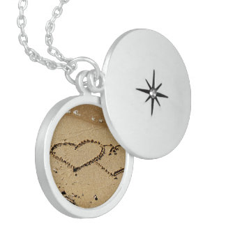 Heart Hearts love custom personalize Anniversaries Round Locket Necklace