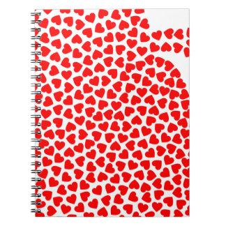 Heart Hearts Spiral Notebook