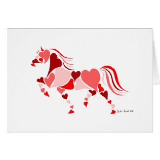 Heart Horse (Blank Inside) Card