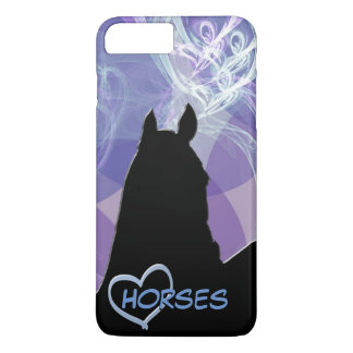 Heart Horse I (Purple Fractual) iPhone 8 Plus/7 Plus Case