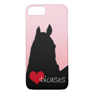 Heart Horses I (faded pink) iPhone 8/7 Case