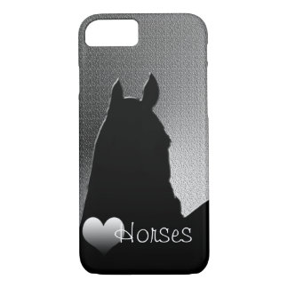 Heart Horses I (silver heart) iPhone 7 Case