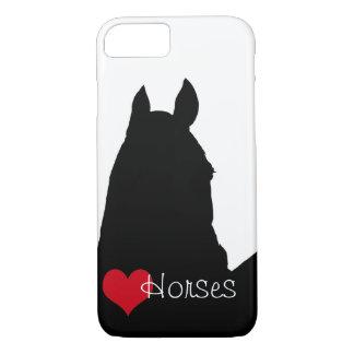 Heart Horses I (white background) iPhone 7 Case