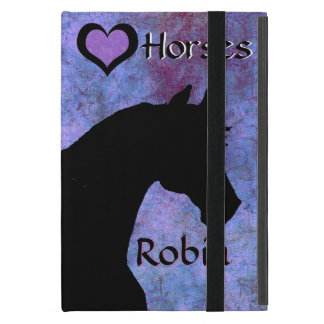 Heart Horses II (purple/blue) Case For iPad Mini