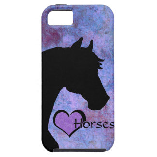 Heart Horses II (purple) iPhone 5 Cases