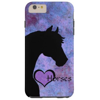 Heart Horses II (purple) Tough iPhone 6 Plus Case