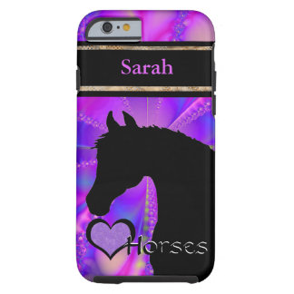 Heart Horses III Customizable (Fractal 100) Tough iPhone 6 Case