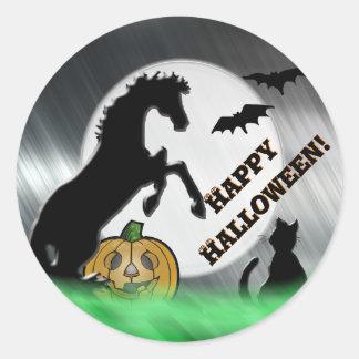 Heart Horses V Halloween Classic Round Sticker