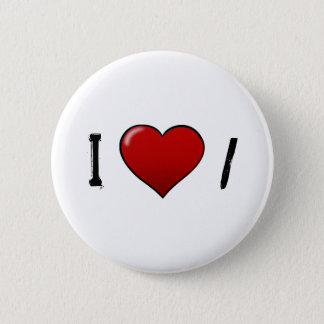 heart, I, / 2 Inch Round Button