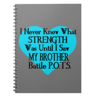 Heart/I Never Knew...Brother...P.O.T.S. Spiral Note Books