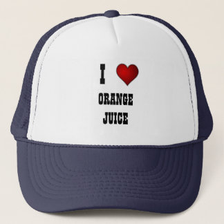 heart, I, ORANGE JUICE Trucker Hat